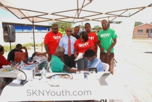 Dr Martin at the SKNY health fair in constituency 1