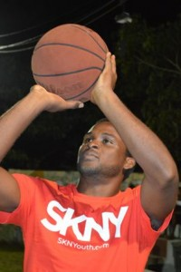 Participant of the SKNY basketball tournament