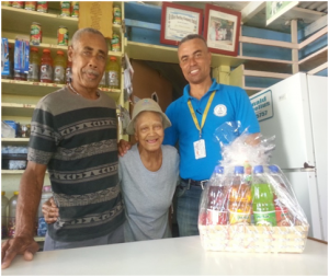 Mr. Ernie France, Mr. Donald Cornelius and Mrs. Wilma Cornelius from Havana Bar located at Charlestown, Nevis