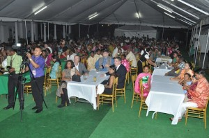 Guests at State House at the Chowtal Samelan hosted by the President and First Lady Deolatchmee Ramotar at State House