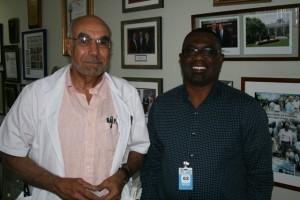 Dr Jean William Pape, Director of GHESKIO and Mr Dereck Springer