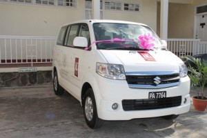 new mini bus for use in the Department of Social Development's Sports Health And Wellness programme