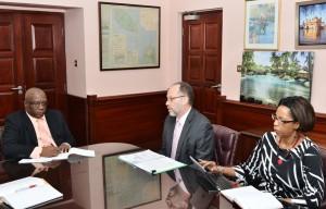 PM Harris greets Ambassador LaRocque