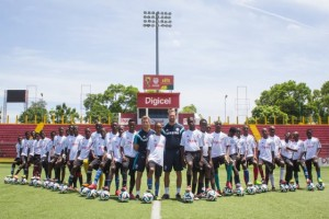 Chelsea FC Foundation Coaches, David Monk and Max Fouracre, were excited to be back in Haiti to train with some of the best youth football players in the region in the Digicel Kickstart Clinics