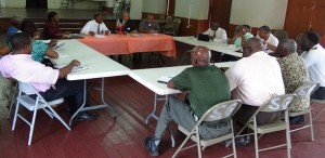 Members of Faith-based Organizations during the meeting.