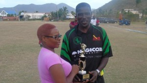 Oneil Walters-wicket keeper of the tournament