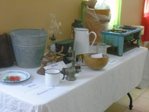 Some of the exhibits at Jessup's community center