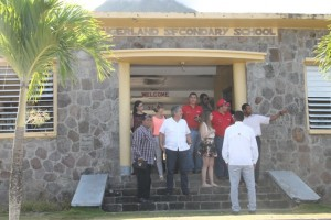 The Venezuelan delegation touring the Gingerland Secondary School assessing the electricity supply there on June 04, 2015