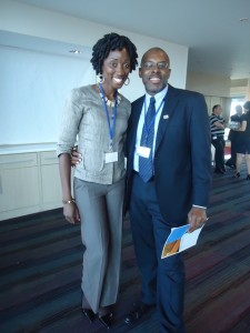 Ms.Boddie with St.Kitts -Nevis national Mr. Paul Hector, Programme Specialist at the Communication and Information Sector at UNESCO in Paris