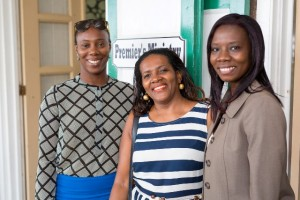 Members of the Miss Culture Queen Sub-committee (l-r) Dianna Browne, Veta Morton and Chairman Candy Freeman at the Premier's Ministry as senior contestants in the Culturama 2015 pageants paid a courtesy call on Premier of Nevis Hon. Vance Amory on July 13, 2015