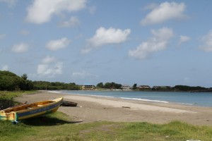Gallows Bay, one of several beaches on the Caribbean Sea coast on Nevis unaffected by Sargassum seaweed