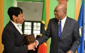 Willett Photo Studio 2: Her Ladyship Justice Marlene Carter congratulates His Excellency