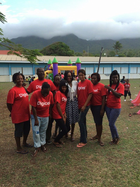 Leaders of Tomorrow Group Members with Digicels Marketing Executive - Tishanna Jeffers copy 2