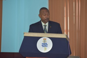 ACP Queeley while giving brief remarks to the participants.