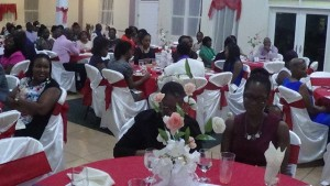 Section of attendees at dinner