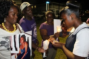 Victims of domestic abuse were remembered at the rally.