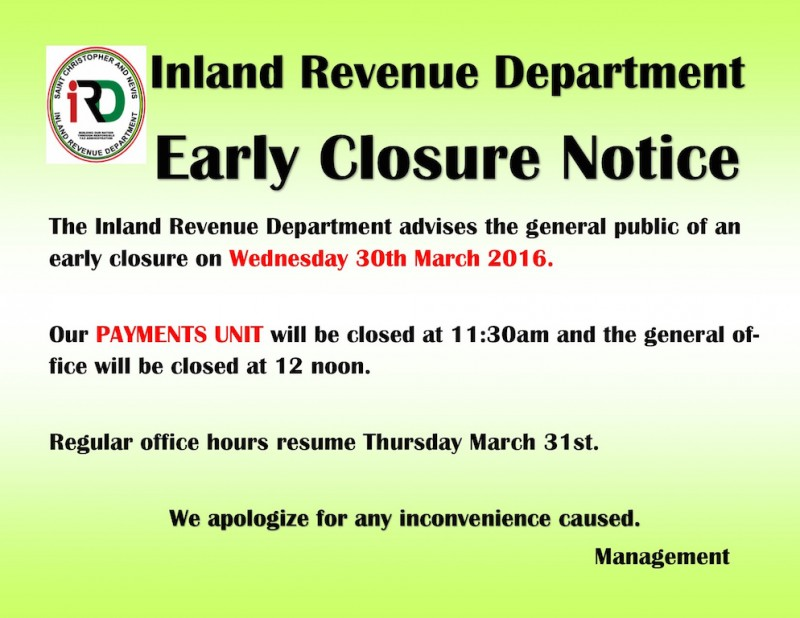 Early Closure-2 copy