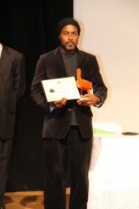 Sylvester Meade overall winner of the Ministry of Tourism's first Photographer of the Year Competition 2016, at the Awards ceremony at the Nevis Performing Arts Centre on March 18, 2016