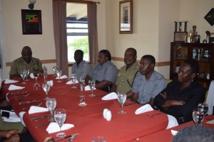 ACP James and ACP Mitchell with officers at Commissioner's luncheon