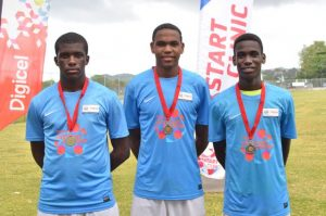 At the end of the Clinic, the top three players selected for the Academy were; Jervel Tobierre, Romario Lendor and Tyrone Wynter