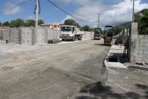 Ongoing works on a section of road in the Hanley's Road Rehabilitation Project on July 13, 2016