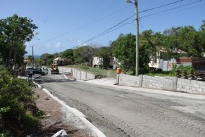 Work on another section of road in the Hanley's Road Rehabilitation Project on July 13, 2016